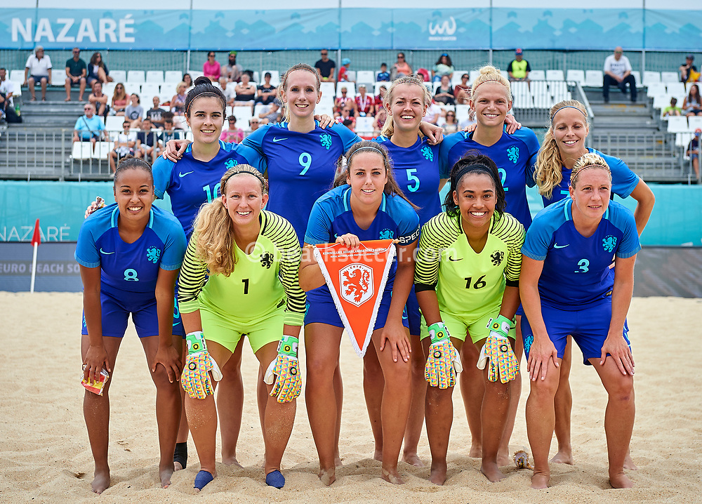 NAZARE, PORTUGAL - JULY 07:  Euro Beach Soccer League Nazare 2017 at Praia Norte on July 07, 2017 in Nazare, Portugal. (Photo by Manuel Queimadelos)