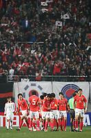 Fotball<br /> Sør Korea v Nord Korea<br /> 01.04.2009<br /> Foto: Aflo/Digitalsport<br /> NORWAY ONLY<br /> <br /> Torjubel Südkorea, v.re.: mit Lee Jung Soo, Lee Chung Jong, Ji Sung Park und Oh Beom Seok