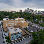Kansas City Missouri, West Side neighborhood, Switzer School post-renovation and conversion to residential use.