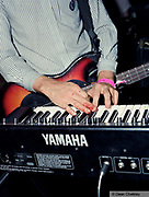 Tom from These New Puritans, with bleeding fingers from playing the bass, Southend, UK 2006