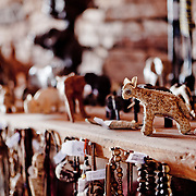 African hand made crafts at Twyfelfontein, Visitor Center, Namibia.