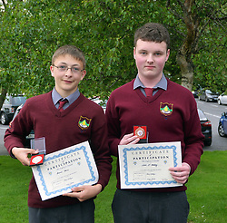 Rice College Awards 2017<br /> Accecpted Enterprise award TY students Brian Kelly and Colin O'Malley.<br />