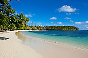 White sand beach Bay de Kanumera, Ile des Pins, New Caledonia, Melanesia, South Pacific