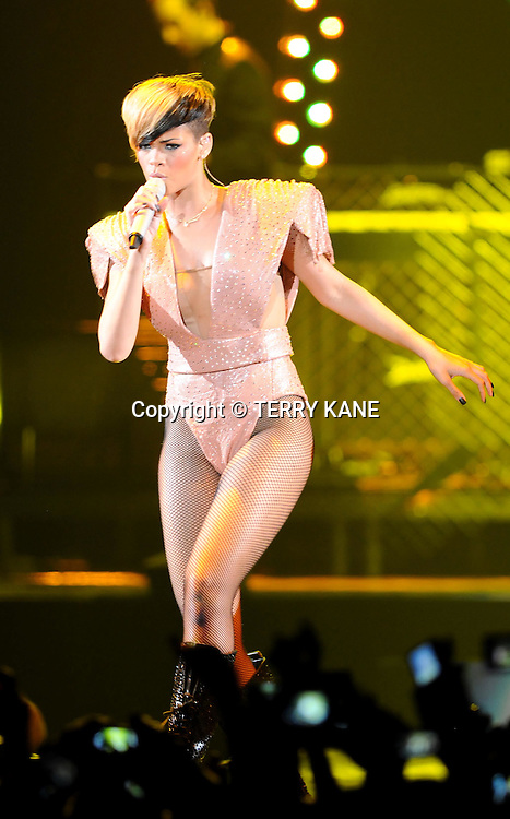 LIVERPOOL, UK.Rihanna performs on stage at The Liverpool Echo Arena on Saturday, 8th May 2010..PHOTOGRAPH BY TERRY KANE / BARCROFT MEDIA LTD..UK Office, London..T: +44 845 370 2233.E: pictures@barcroftmedia.com.W: www.barcroftmedia.com..Australasian & Pacific Rim Office, Melbourne..E: info@barcroftpacific.com.T: +613 9510 3188 or +613 9510 0688.W: www.barcroftpacific.com..Indian Office, Delhi..T: +91 997 1133 889.W: www.barcroftindia.com