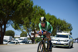Annemiek van Vleuten begins Stage 5 of the Giro Rosa - a 12.7 km individual time trial, starting and finishing in Sant'Elpido A Mare on July 4, 2017, in Fermo, Italy. (Photo by Sean Robinson/Velofocus.com)