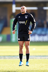 Jonathan Joseph of Bath Rugby in action during the pre-match warm-up - Mandatory byline: Patrick Khachfe/JMP - 07966 386802 - 16/11/2019 - RUGBY UNION - The Recreation Ground - Bath, England - Bath Rugby v Ulster Rugby - Heineken Champions Cup
