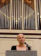 The Alumni Association along with the English Department at Ohio University put on an event at Galbreath Chapel called the Distinguished Alumni Poetry Reading which featured 4 Ohio University alumni who graduated from the Graduate Program here at Ohio University...Shown here is Leilani Hall who is the author of Swimming the Witch, a collection of poems on trial and judgment. Her work has also appeared in the anthology In A Fine Frenzy: Poets Respond to Shakespeare, and a number of journal publications, including North American Poetry Review, New Orleans Review, Water~Stone, and The Journal. She received her M.A. from Ohio University and Ph.D. from University of Southern Mississippi, The Center for Writers. She is Assistant Professor of English at California State University Northridge where she teaches poetry writing and creative writing theory.