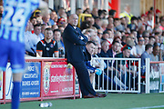 John Coleman Manager of Accrington during the EFL Sky Bet League 1 match between Accrington Stanley and Blackpool at the Fraser Eagle Stadium, Accrington, England on 21 September 2019.