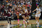 Mississippi State Lady Bulldogs forward Victoria Vivians #35 brings the ball up court against the South Carolina Gamecocks during the NCAA Women's Championship game at the American Airlines Center in Dallas, Texas on April 2, 2017.  (Cooper Neill for The Players Tribune)