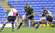 14/04/2002.Sport - Rugby Union.Madjeski Stadium - Reading.Zurich Premiership.London Irish vs Harlequins.Exiles, geoff Appleyard looks for an opening in the Quins defence....
