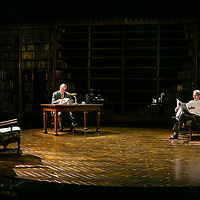 SHADOWLANDS by Nicholson ;<br /> Hugh Bonneville as C.S.Lewis (Jack) ;<br /> Andrew Havill as Warnie ;<br /> Directed by Rachel Kavanaugh ;<br /> Designed by Peter McKintosh ;<br /> Chichester Festival Theatre ;<br /> 1st May 2019 ;<br /> © Pete Jones<br />pete@pjproductions.co.uk
