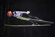 Poland, Wisla Malinka - 2017 November 18: Markus Eisenbichler from Germany soars in the air during FIS Ski Jumping World Cup Wisla 2017/2018 - Day 1 at jumping hill of Adam Malysz on November 18, 2017 in Wisla Malinka, Poland.<br /> <br /> Mandatory credit:<br /> Photo by &copy; Adam Nurkiewicz<br /> <br /> Adam Nurkiewicz declares that he has no rights to the image of people at the photographs of his authorship.<br /> <br /> Picture also available in RAW (NEF) or TIFF format on special request.<br /> <br /> Any editorial, commercial or promotional use requires written permission from the author of image.