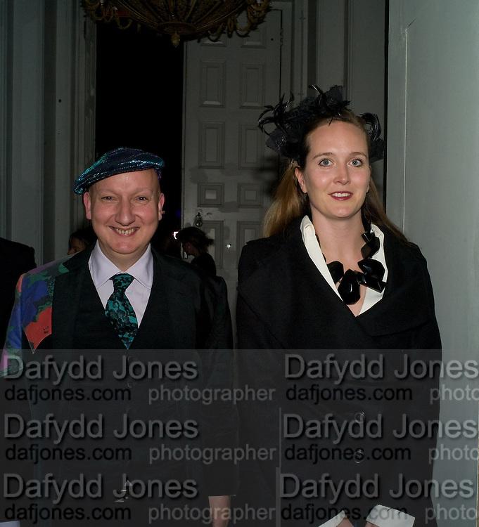 STEPHEN JONES; CORNELIA DE UPHAUGH, The British Design Awards 2008. One Marylebone Rd. London . 29 October 2008. *** Local Caption *** -DO NOT ARCHIVE -Copyright Photograph by Dafydd Jones. 248 Clapham Rd. London SW9 0PZ. Tel 0207 820 0771. www.dafjones.com