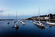 GLOUCESTER, MA - JULY 12: General view of sailboats in a harbor near Gloucester, Massachusetts on July 12, 2009. (Photo by Joe Robbins)