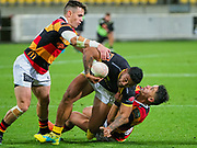 Action during the  the Mitre 10 Cup rugby union game played between Wellington  v Waikato played at Westpac Stadium , Wellington, New Zealand, on 12 October  2019.   Final score 39-21  to Wellington.