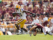 Baton Rouge, LA - SEPTEMBER 30:  Chevis Jackson #21 of the LSU Tigers runs with the ball against the Mississippi State Bulldogs at Tiger Stadium on September 30, 2006 in Baton Rouge, Louisiana.  The Tigers defeated the Bulldogs 48 - 17.  (Photo by Wesley Hitt/Getty Images) *** Local Caption *** Chevis Jackson