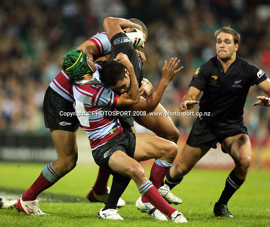 Sitemana Sa tackled by Jonothan Thurston. Australia v New Zealand. Centenary Test. Sydney Cricket Ground, Sydney, Australia. Friday 9 May 2008. Photo: Paul Seiser/PHOTOSPORT
