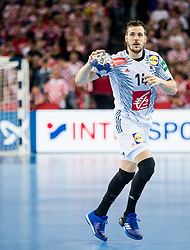 Kentin Mahe of France during handball match between National teams of Croatia and France on Day 7 in Main Round of Men's EHF EURO 2018, on January 24, 2018 in Arena Zagreb, Zagreb, Croatia.  Photo by Vid Ponikvar / Sportida