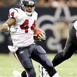 September 25, 2011; New Orleans, LA, USA; Houston Texans running back Ben Tate (44) against the New Orleans Saints during the third quarter at the Louisiana Superdome. The Saints defeated the Texans 40-33. Mandatory Credit: Derick E. Hingle