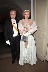 PRINCE & PRINCESS LEONIDAS-ROMANOS HARITOS-LIRZA at the 13th annual Russian Summer Ball held at the Banqueting House, Whitehall, London on 14th June 2008.<br /><br />NON EXCLUSIVE - WORLD RIGHTS