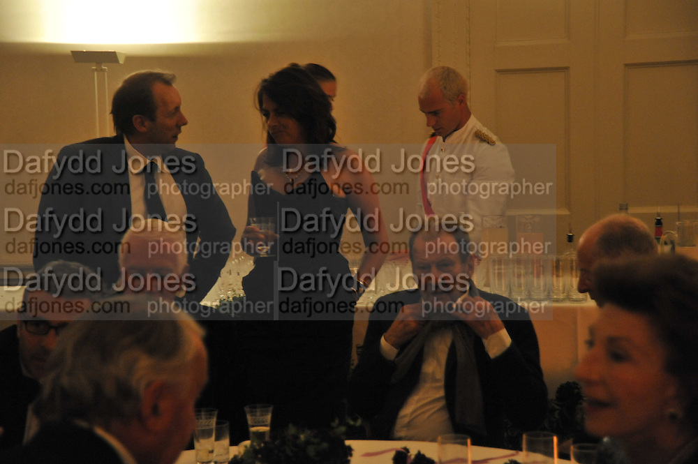 TRACEY EMIN; LUCIAN FREUD, Nicky Haslam party for Janet de Bottona nd to celebrate 25 years of his Design Company.  Parkstead House. Roehampton. London. 16 October 2008.  *** Local Caption *** -DO NOT ARCHIVE-© Copyright Photograph by Dafydd Jones. 248 Clapham Rd. London SW9 0PZ. Tel 0207 820 0771. www.dafjones.com.
