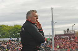 Stephen Rochford watches on during the closing stages of the Connacht Championship clash against Galway.<br />Pic Conor McKeown