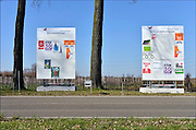 Nederland, Bemmel, 12-3-2015 Verkiezingsbord met affiches voor de komende verkiezingen voor de provinciale staten en het waterschap rivierenland . Netherlands, election board with posters for the forthcoming elections. Foto: Flip Franssen/Hollandse Hoogte