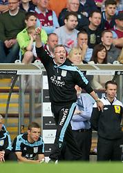 BIRMINGHAM, ENGLAND - Saturday, August 25, 2012: Aston Villa's manager Paul Lambert during the Premiership match against Everton at Villa Park. (Pic by David Rawcliffe/Propaganda)