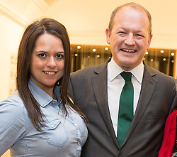 © Licensed to London News Pictures . Manchester , UK . FILE PICTURE DATED 13/02/2015 of wife and husband KAREN and SIMON DANCZUK as , today ( 22 February 2015 ) it is reported that a 36 year old man has been arrested in connection with historical sex abuse allegations , made by Karen Danczuk . Photo credit : Joel Goodman/LNP