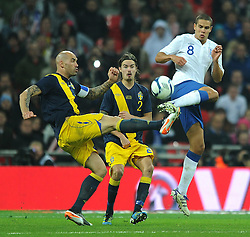 15.11.2011, Wembley Stadium, London, ENG, FSP, England (ENG) vs Schweden (SWE), im Bild England's Jack Rodwell in action against Sweden's Daniel Mastorovic // during the international friendlies football match between England (ENG) and Sweden (SWE) at Wembley Stadium, London, United Kingdom on 15/11/2011. EXPA Pictures © 2011, PhotoCredit: EXPA/ Sportida/ Chris Brunskill..***** ATTENTION - OUT OF ENG, GBR, UK *****