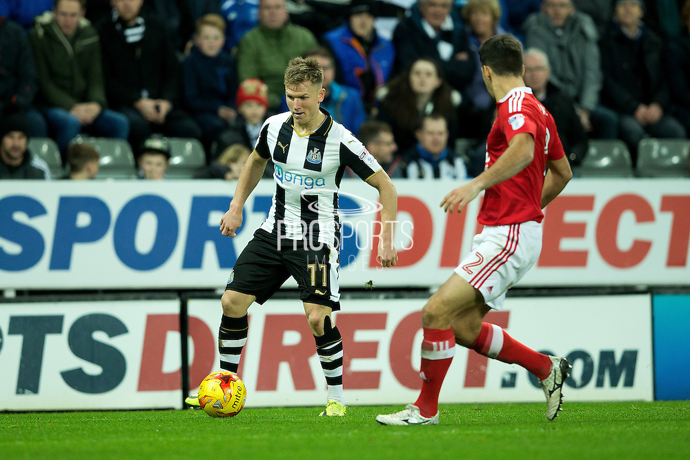 Newcastle United midfielder Matt Ritchie (#11) in action during the EFL Sky Bet Championship match between Newcastle United and Nottingham Forest at St. James's Park, Newcastle, England on 30 December 2016. Photo by Craig Doyle.
