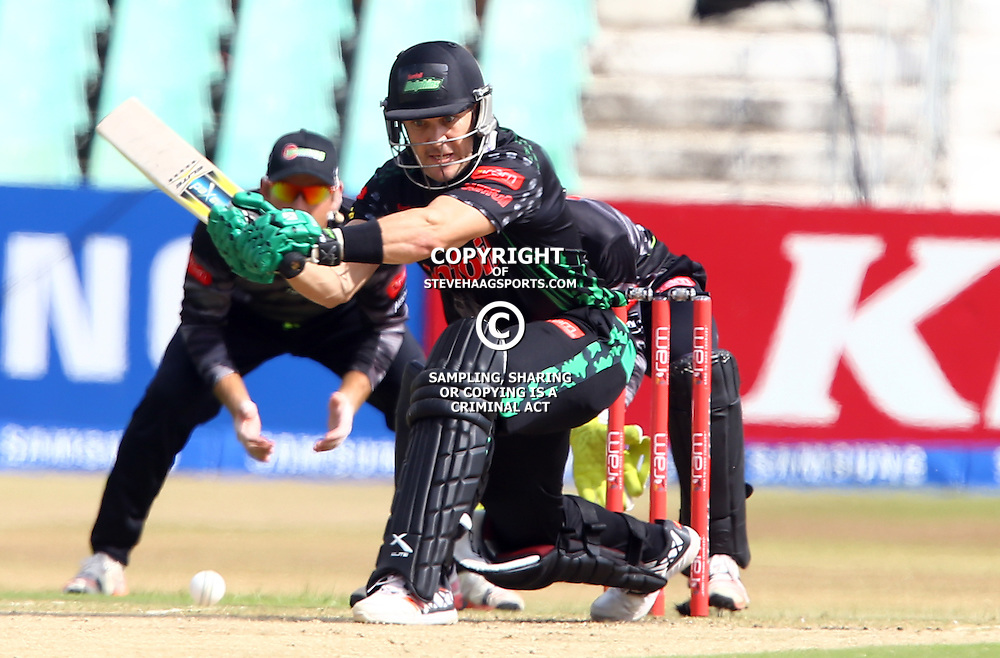 Durban South Africa - November 8: Morné van Wyk of the Sunfoil Dolphins during the RAM Slam T20 match between Sunfoil Dolphins and The Warriors,Sunday November 8th,Sahara Stadium Kingsmead (Photo by Steve Haag)images for social media must have consent from Steve Haag