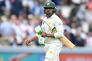 Haris Sohail of Pakistan walks back to the pavilion on DAy Two of the NatWest Test Match match at Lord's, London<br /> Picture by Simon Dael/Focus Images Ltd 07866 555979<br /> 25/05/2018