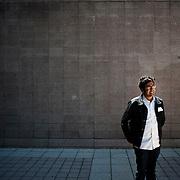 May 12, 2011 - Queens, NY : A day with comedian Hari Kondabolu, Bowdoin Class of 2004.  <br /> <br /> Portrait of Hari Kondabolu '04, taken outside of Townsend Harris High School in Queens. Hari graduated from High School in 2000. <br /> <br /> Photographs for Bowdoin Magazine by Karsten Moran