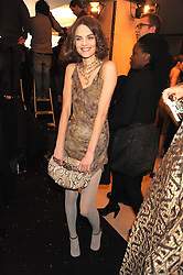 Anouck Lepere at the 2008 British Fashion Awards held at the Lawrence Hall, Westminster, London on 25th November 2008.