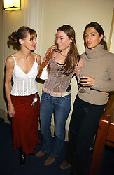 Left to right, JESSICA CRAIG, CHARLOTTE GORDON CUMMING and SABA DOUGLAS-HAMILTON at a concert by Charlotte Gordon Cumming in aid of Tusk held at the National Geographical Society, 1 Kensington Gore, London SW7 on 16th March 2006.<br /><br />NON EXCLUSIVE - WORLD RIGHTS