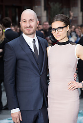 Darren Aronofsky and his girlfriend  arrives for the UK premiere of the film 'Noah', Odeon, London, United Kingdom. Monday, 31st March 2014. Picture by Daniel Leal-Olivas / i-Images