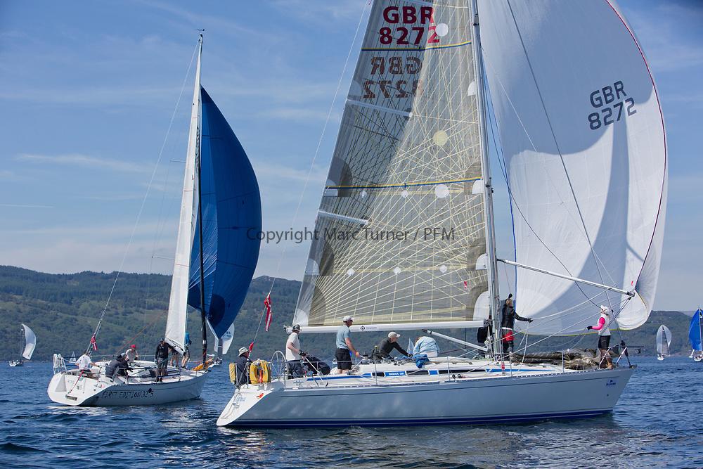 Silvers Marine Scottish Series 2017<br /> Tarbert Loch Fyne - Sailing<br /> <br /> GBR8272, Enigma, Howard Morrison, CCC, Sigma 38.