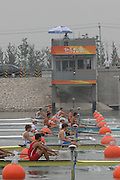 Beijing, CHINA.  Start of the Junior men's  pair, semi final [second from bottom] GBR JM2- left Matthew TARRANT and Matthew ANKER, at  the  2007. FISA Junior World Rowing Championships,  Shunyi Water Sports Complex. 10/08/2007 [Photo, Peter Spurrier/Intersport-images]..... , Rowing Course, Shun Yi Water Complex, Beijing, CHINA,