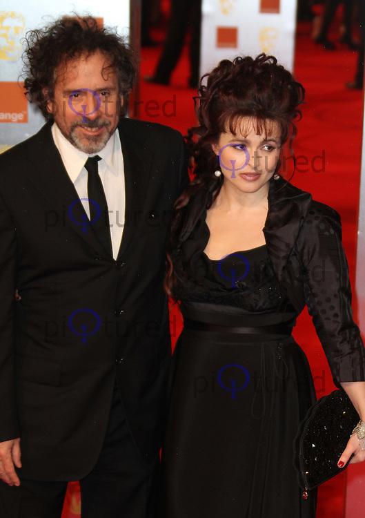 Helena Bonham Carter; Tim Burton Orange British Academy Film Awards BAFTA, Royal Opera House, Covent Garden,London, UK, 13 February 2011: Contact: Ian@Piqtured.com +44(0)791 626 2580 (Picture by Richard Goldschmidt)