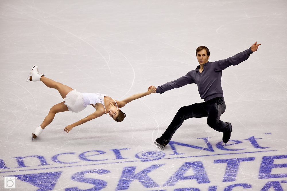 Nov 14, 2009: Brooke Castile and Benjamin Okolski of the United States compete in the Pairs Free Skate competition at Skate America 2009 at the Herb Brooks Arena in Lake Placid, N.Y. (ORDA Photo /Todd Bissonette)