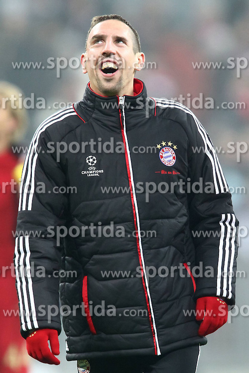 22.11.2011, Allianz Arena, Muenchen, UEFA CL, Gruppe A, GER, FC Bayern Muenchen (GER) vs FC Villarreal (ESP), im Bild Franck Ribery (Bayern #7) feiert den Sieg //during the football match of UEFA Champions league, group a, between  FC Bayern Muenchen (GER)  vs.  FC Villarreal  (ESP) Gruppe A, on 2011/11/22 at Allianz Arena, Munich, Germany. EXPA Pictures © 2011, PhotoCredit: EXPA/ nph/ Straubmeier..***** ATTENTION - OUT OF GER, CRO *****