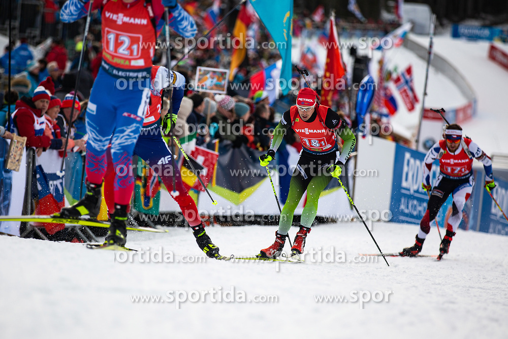 Rok Trsan (SLO) during the Mixed Relay 2x 6 km / 2x 7,5 km at day 3 of IBU Biathlon World Cup 2019/20 Pokljuka, on January 23, 2020 in Rudno polje, Pokljuka, Pokljuka, Slovenia. Photo by Peter Podobnik / Sportida