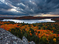 Autumn Fall Foliage as viewed from Booth Rock Trail Outlook, Algonquin Provincial Park, Ontario, Canada