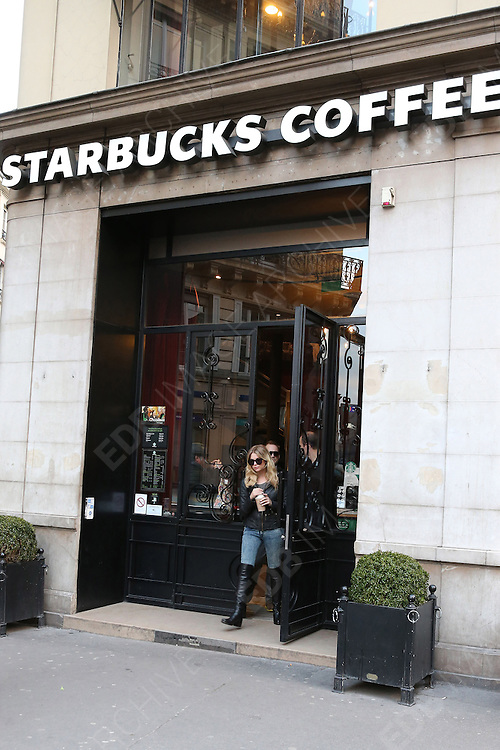 17.FEBRUARY.2013. PARIS<br /> <br /> SPRING BREAKERS CAST MEMBER ASHLEY BENSON IS SPOTTED GOING TO STARBUCK CAFE AND SHOPPING AT PUBLICIS DRUGSTORE ON CHAMPS ELYSEES IN PARIS.<br /> <br /> BYLINE: EDBIMAGEARCHIVE.CO.UK<br /> <br /> *THIS IMAGE IS STRICTLY FOR UK NEWSPAPERS AND MAGAZINES ONLY*<br /> *FOR WORLD WIDE SALES AND WEB USE PLEASE CONTACT EDBIMAGEARCHIVE - 0208 954 5968*