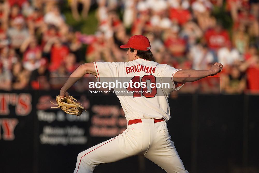 28 April 2007: North Carolina State pitcher Andrew Brackman (40) during a 3-9 North Carolina Tar Heels win at Doak Field in Raleigh, NC.