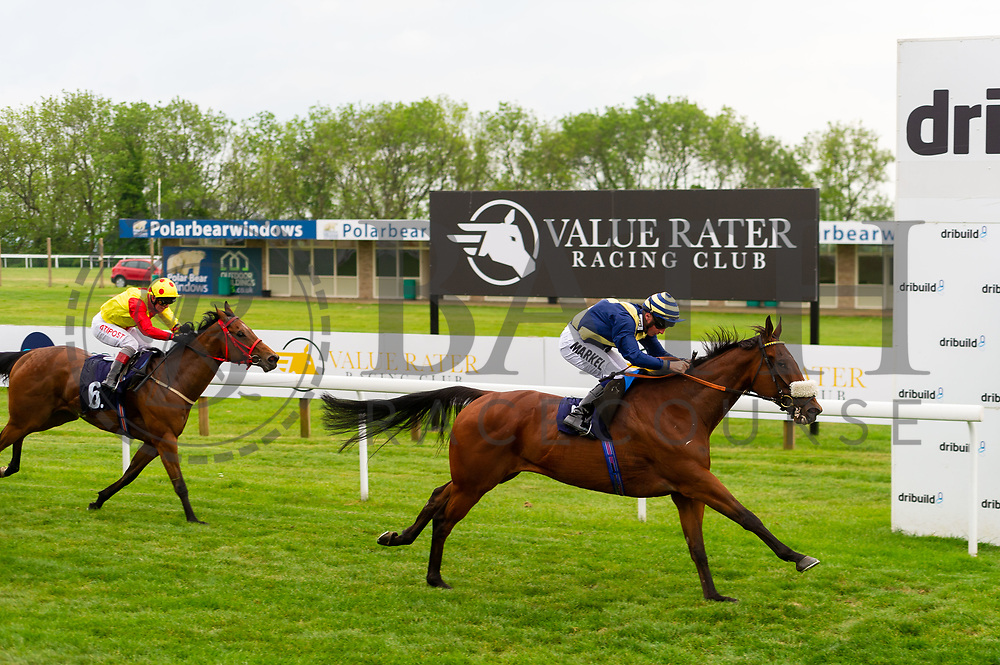 Pocket Warrior ridden by Tom Marquand and trained by Paul D'Arcy in the Mj Church Plant And Transport Handicap race. Amberine ridden by Franny Norton and trained by Malcolm Saunders in the Mj Church Plant And Transport Handicap race.  - Ryan Hiscott/JMP - 24/05/2019 - PR - Bath Racecourse - Bath, England - Friday 24th May 2019 Race Meeting at Bath Racecourse