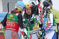 Winner LIGETY Ted of USA, on second place HIRSCHER Marcel of Austria and third PINTURAULT Alexis of France during the 2nd Run of 7th Men's Giant Slalom - Pokal Vitranc 2013 of FIS Alpine Ski World Cup 2012/2013, on March 9, 2013 in Vitranc, Kranjska Gora, Slovenia.  (Photo By Matic Klansek Velej / Sportida.com)