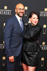 February 2, 2019 - Atlanta, GA, U.S. - ATLANTA, GA - FEBRUARY 02:  Keegan-Michael Key poses for photos on the red carpet at the NFL Honors on February 2, 2019 at the Fox Theatre in Atlanta, GA. (Photo by Rich Graessle/Icon Sportswire) (Credit Image: © Rich Graessle/Icon SMI via ZUMA Press)