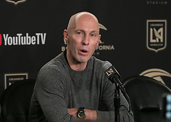 April 29, 2018 - Los Angeles, California, U.S - Coach, Bob Bradley of the LAFC during a press conference after winning their MLS game against the Seattle Sounders on Sunday April 29, 2018, their first game at the Banc of California Stadium in Los Angeles, California. LAFC defeats Sounders, 1-0. (Credit Image: © Prensa Internacional via ZUMA Wire)